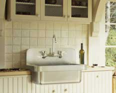 farmhouse sink w backsplash
