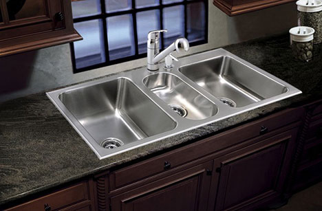 Triple Bowl Sink Stainless Steel Made In Usa By Just Sinks
