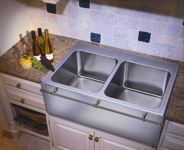 Fresh Stainless Steel Apron Front Sink with towel Bar