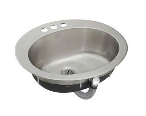 Decolav Simply Stainless Drop In Bathroom Sink Steel Source Olf 1619 Wo Single Bowl Lavatory