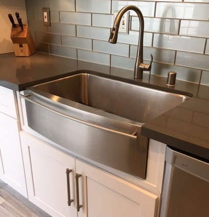 for quality and value stainless steel is an obvious choice for kitchen sinks easy clean ability makes stainless steel a first choice - Kitchen Sinks Installation